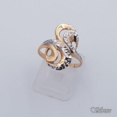 Auksinis žiedas AZ338; 17 mm