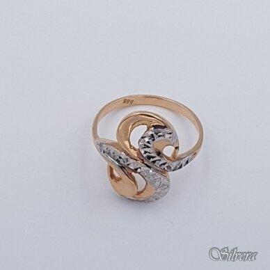 Auksinis žiedas AZ338; 17 mm 2