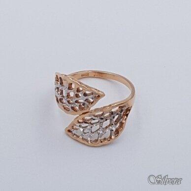 Auksinis žiedas AZ339; 17 mm 2