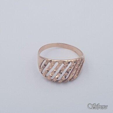 Auksinis žiedas AZ461; 21 mm 2