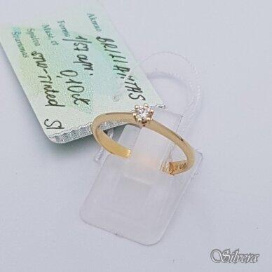 Auksinis žiedas su briliantu AZ901; 17,5 mm