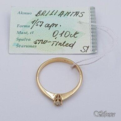 Auksinis žiedas su briliantu AZ901; 17,5 mm 2