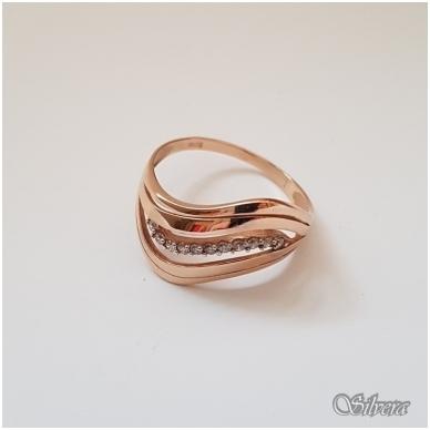 Auksinis žiedas su cirkoniais AZ10; 20 mm 2