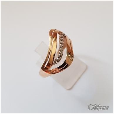 Auksinis žiedas su cirkoniais AZ10; 20 mm 3