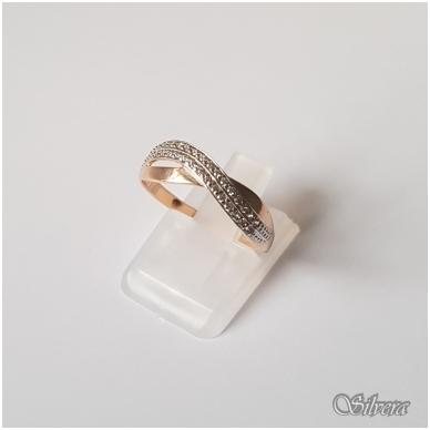Auksinis žiedas su cirkoniais AZ24; 18 mm