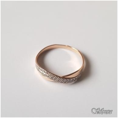 Auksinis žiedas su cirkoniais AZ24; 18 mm 2