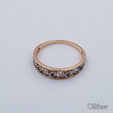 Auksinis žiedas su cirkoniais AZ333; 17 mm 2