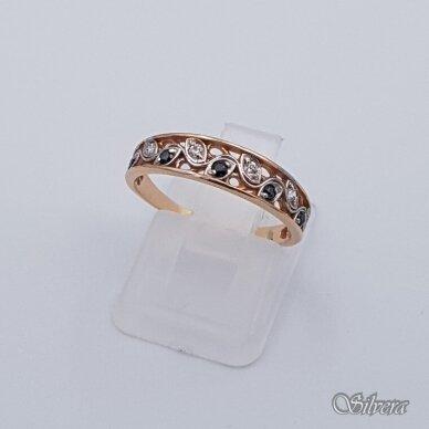 Auksinis žiedas su cirkoniais AZ333; 17 mm