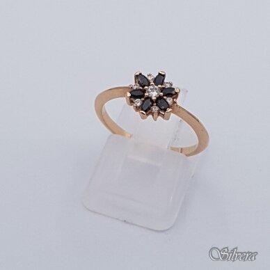 Auksinis žiedas su cirkoniais AZ334; 17 mm