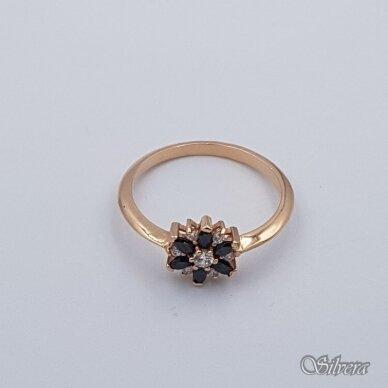 Auksinis žiedas su cirkoniais AZ334; 17 mm 2