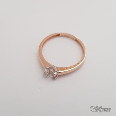 Auksinis žiedas su cirkoniais AZ43; 16,5 mm 2