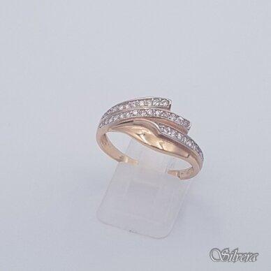 Auksinis žiedas su cirkoniais AZ452; 20 mm