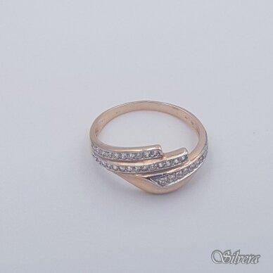 Auksinis žiedas su cirkoniais AZ452; 20 mm 2