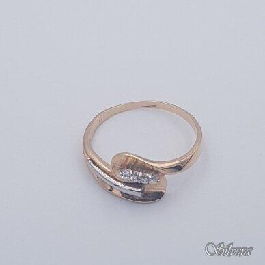 Auksinis žiedas su cirkoniais AZ462; 21,5 mm 2