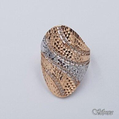 Auksinis žiedas su cirkoniais AZ488; 20 mm 2