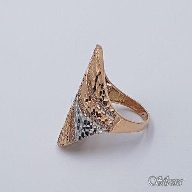 Auksinis žiedas su cirkoniais AZ488; 20 mm 3
