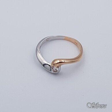 Auksinis žiedas su cirkoniu AZ106; 17,5 mm 2