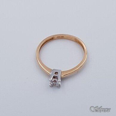 Auksinis žiedas su cirkoniu AZ109; 17,5 mm 2
