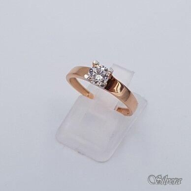 Auksinis žiedas su cirkoniu AZ110; 17,5 mm