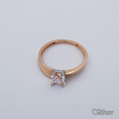 Auksinis žiedas su cirkoniu AZ110; 17,5 mm 2