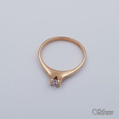 Auksinis žiedas su cirkoniu AZ111; 17,5 mm 2
