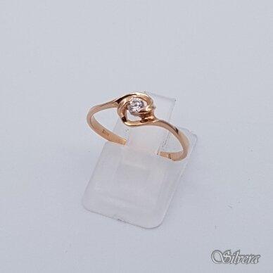 Auksinis žiedas su cirkoniu AZ118; 18 mm