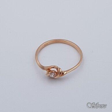 Auksinis žiedas su cirkoniu AZ118; 18 mm 2