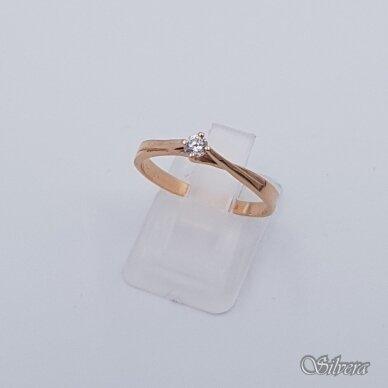 Auksinis žiedas su cirkoniu AZ119; 18 mm