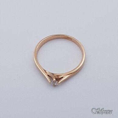 Auksinis žiedas su cirkoniu AZ119; 18 mm 2