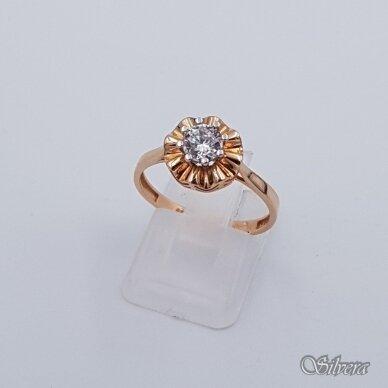 Auksinis žiedas su cirkoniu AZ123; 18 mm