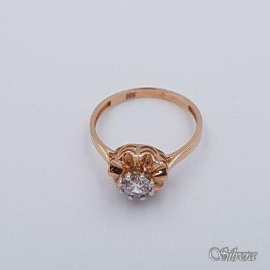 Auksinis žiedas su cirkoniu AZ123; 18 mm 2