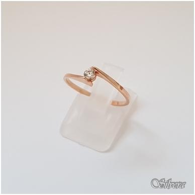 Auksinis žiedas su cirkoniu AZ16; 18 mm