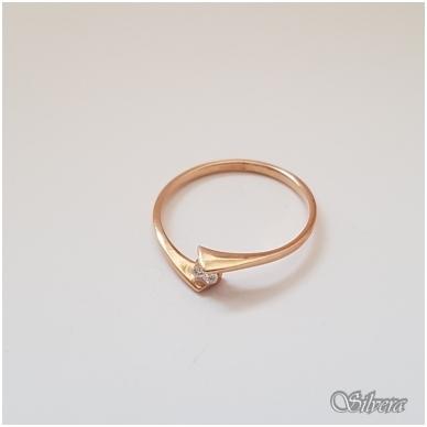 Auksinis žiedas su cirkoniu AZ16; 18 mm 2