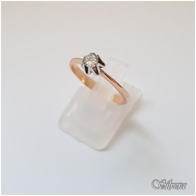 Auksinis žiedas su cirkoniu AZ20; 17,5 mm
