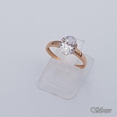 Auksinis žiedas su cirkoniu AZ279; 16 mm