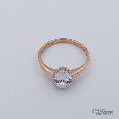 Auksinis žiedas su cirkoniu AZ279; 16 mm 2
