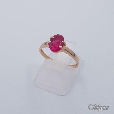 Auksinis žiedas su cirkoniu AZ280; 17 mm