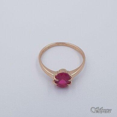 Auksinis žiedas su cirkoniu AZ280; 17 mm 2