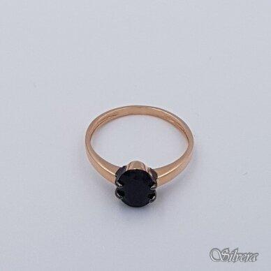 Auksinis žiedas su cirkoniu AZ281; 17,5 mm 2