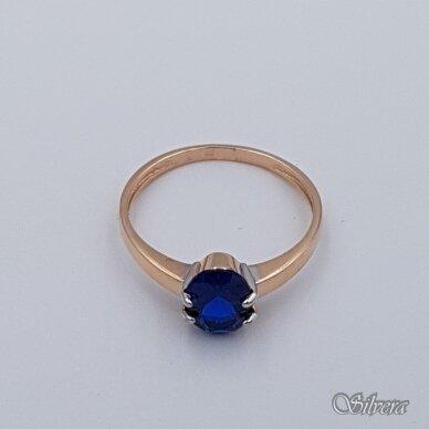 Auksinis žiedas su cirkoniu AZ282; 16 mm 2