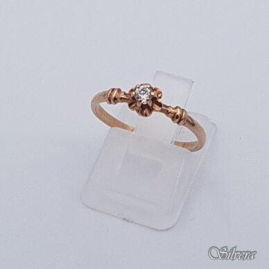 Auksinis žiedas su cirkoniu AZ332; 17 mm
