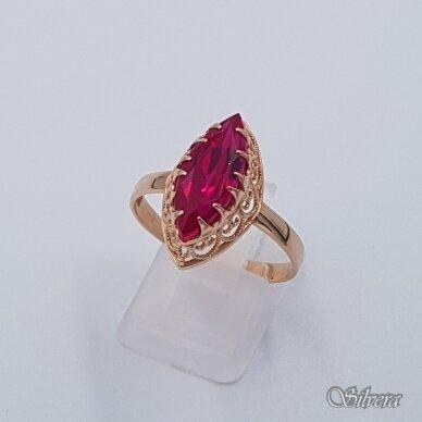 Auksinis žiedas su cirkoniu AZ492; 20 mm