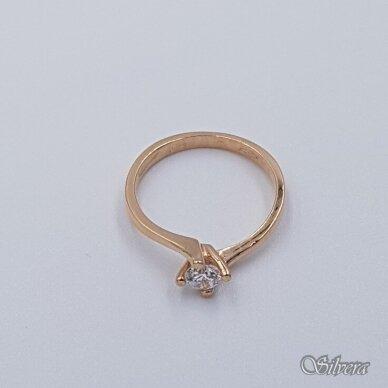 Auksinis žiedas su cirkoniu AZ497; 16 mm 2