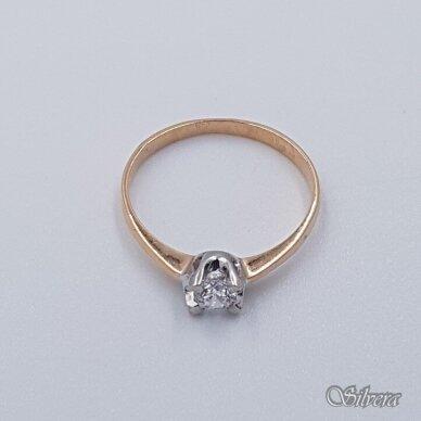 Auksinis žiedas su cirkoniu AZ498; 17,5 mm 2