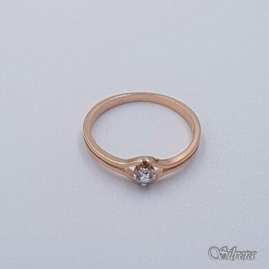Auksinis žiedas su cirkoniu AZ503; 16 mm 2