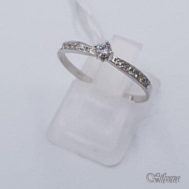 Auksinis žiedas su deimantais AZ904; 18 mm