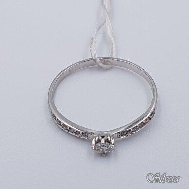 Auksinis žiedas su deimantais AZ904; 18 mm 2