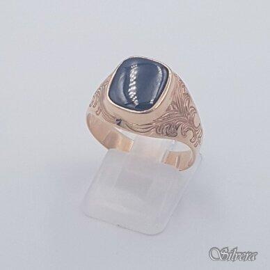 Auksinis žiedas su oniksu AZ476; 20 mm