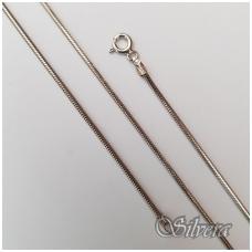 Rodžiuota sidabrinė grandinėlė CTD140ox; 45 cm