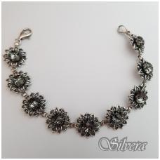 Sidabrinė apyrankė su swarovski kristalais A4001; 19,5 cm